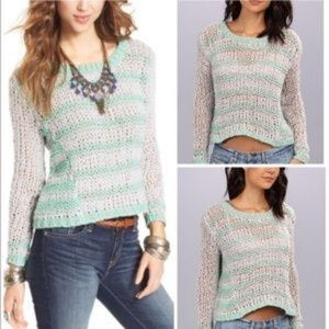 FREE PEOPLE Cropped Provence Cloud Sweater M